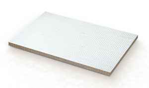 Fire resistant stone wool board.
