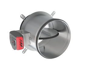 Circular E60S fire damper for surface- and remote-mounting