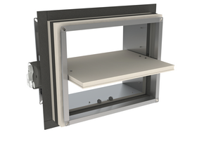 Optimised rectangular surface-mounted fire damper up to 120'