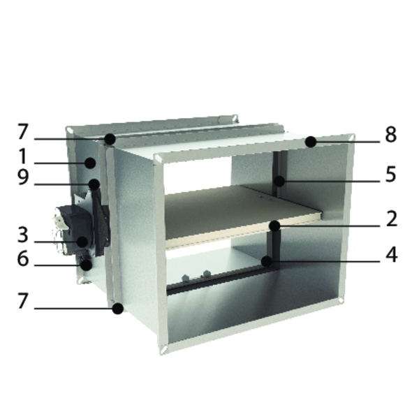 Clapet coupe feu rectangulaire optimis avec tunnel rallong 500 mm - Promatect l500 coupe feu ...
