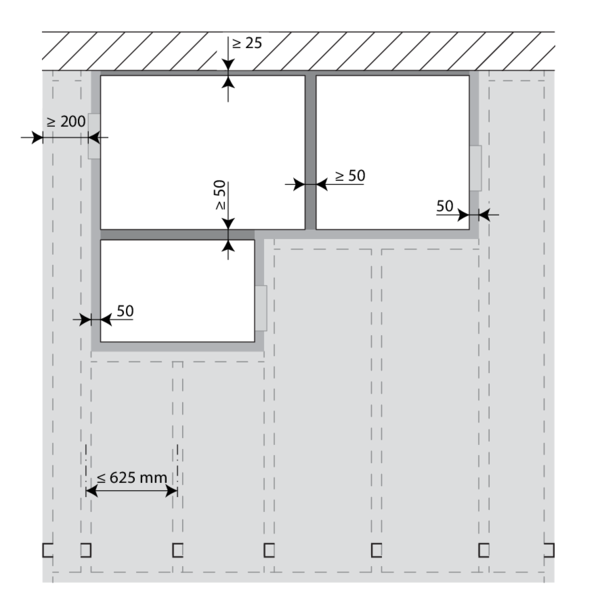Spessore minimo parete cartongesso finest strisce per - Vetrocamera spessore minimo ...