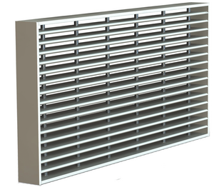 Rectangular linear bar grill 90'.