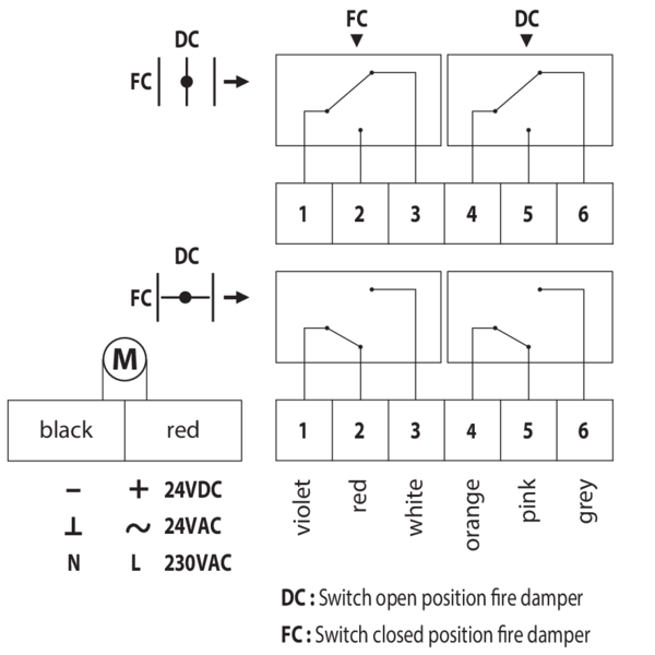 Automatic Damper Wiring Diagram