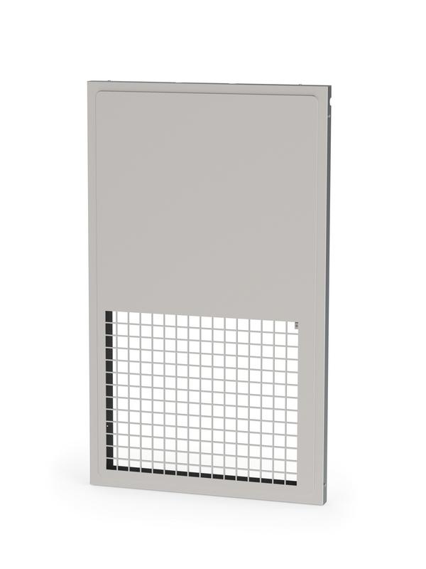 Volet de transfert guillotine pour pose en applique e60 ou ei60 avec grille - Grille de transfert coupe feu ...