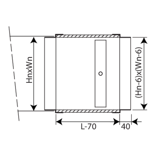 damper with extended casing