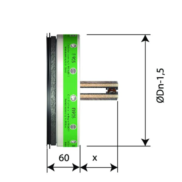 Clapet terminal coupe feu circulaire pr sentant une r sistance au feu de 90 minutes - Installation clapet coupe feu ...