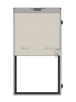 Guillotine-type transfer shutter E60 or EI60 (with a grill).