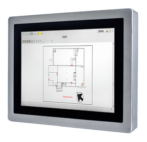 Panel-PC met een strak design en verzonken 15 inch touchscreen